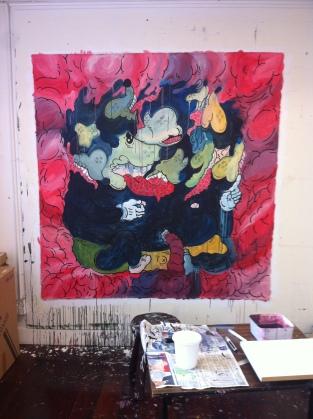 Gabriel Tiongson Musorgy 6x6 ft acrylic on canvas 2014©