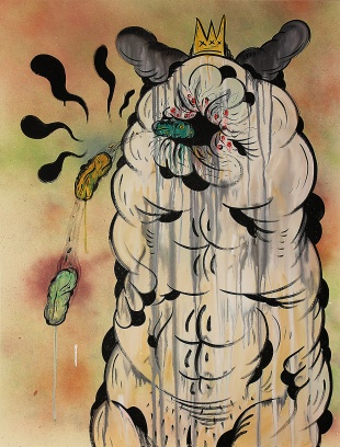 Gabriel Tiongson Creamy Donut Logs 4 acrylic on canvas 75x100 cm © April 2015