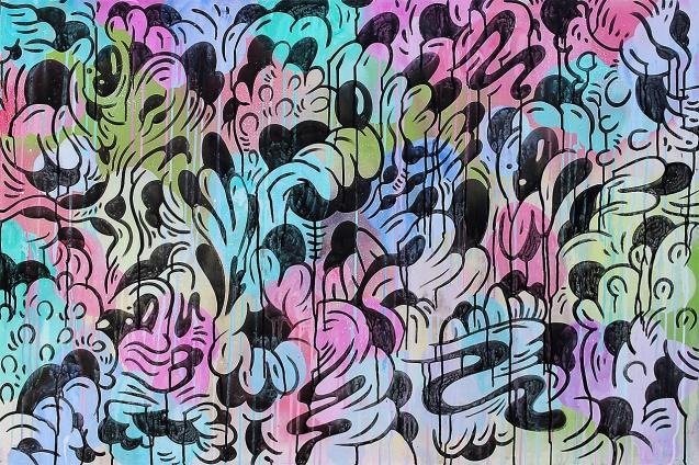 Gabriel Tiongson Fungal Growth 2 acrylic on board 120x80 cm © April 2015