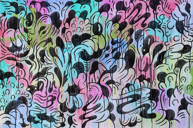 Gabriel Tiongson Fungal Growth 2 acrylic on board 120x80 cm © April 2015
