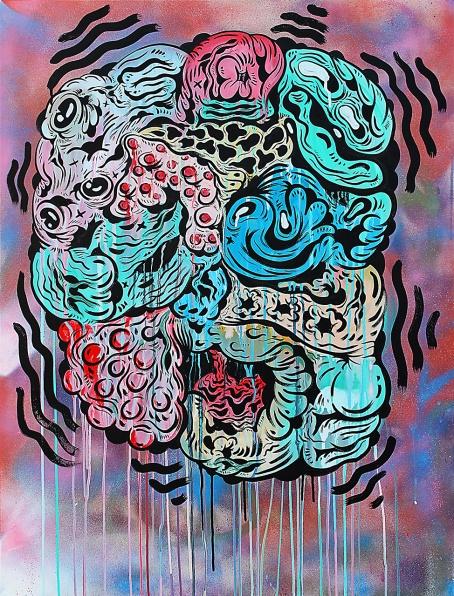 Gabriel Tiongson Crush 5 acrylic on canvas 75x100 cm © June 2015