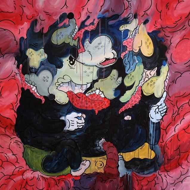 Gabriel Tiongson Musorgy 183cm x 183cm acrylic on canvas 2014©