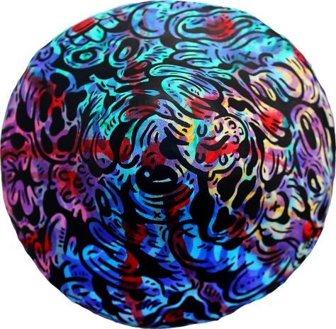 Gabriel Tiongson Shroom B 45 acrylic on clay 16x18x20 cm © May 2015