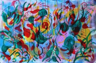 Gabriel Tiongson Starfish 5 acrylic on board 120x80 cm © April 2015