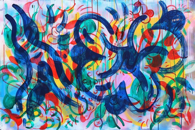 Gabriel Tiongson Starfish 6 acrylic on board 120x80 cm © April 2015