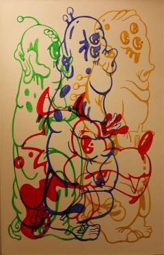 Gabriel Tiongson 3LP+BW Acrylic on Canvas © 2011
