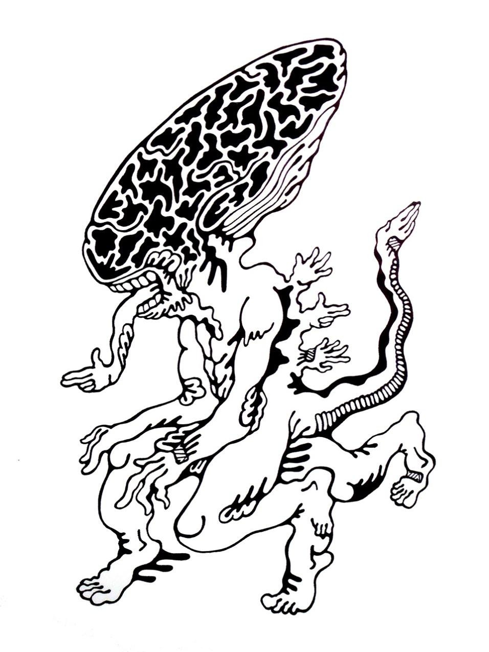 Gabriel Tiongson Alien ink on paper © 2011