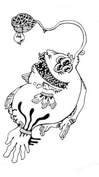 Gabriel Tiongson Angler 1 ink on paper © 2011