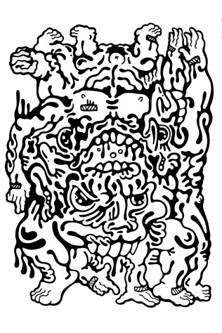 Gabriel Tiongson Army of One ink on paper © 2012