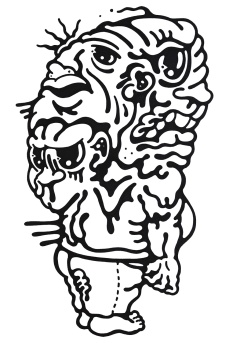 Gabriel Tiongson Backseat Drivers ink on paper © 2012