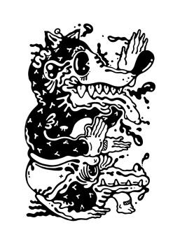 Gabriel Tiongson Bigger Badder Wolf ink on paper © 2012