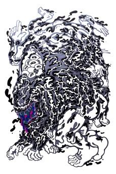 Gabriel Tiongson Body Slammer ink on paper © 2012