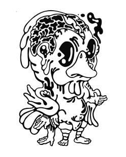 Gabriel Tiongson Cat ink on paper © 2011