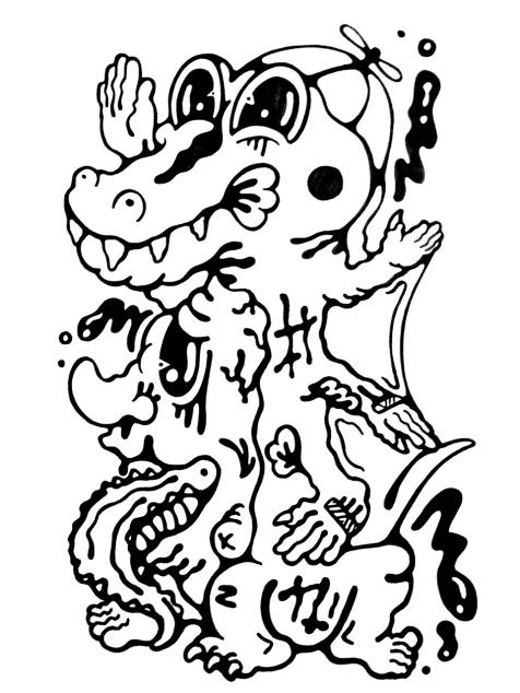 Gabriel Tiongson Croco ink on paper © 2011