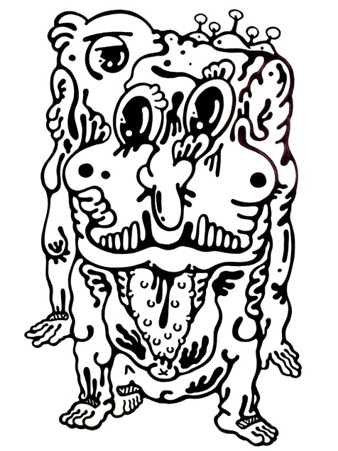 Gabriel Tiongson Duh ink on paper © 2011