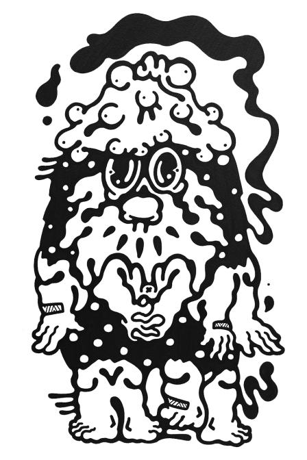 Gabriel Tiongson Dwayne Dee ink on paper © 2012