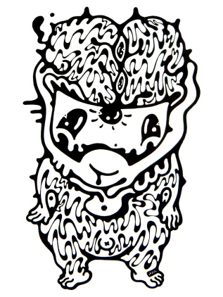 Gabriel Tiongson Evil Genius ink on paper © 2012