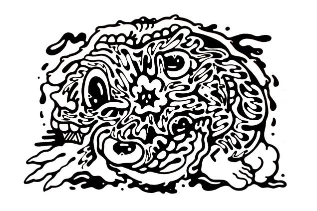 Gabriel Tiongson Faces ink on paper © 2012