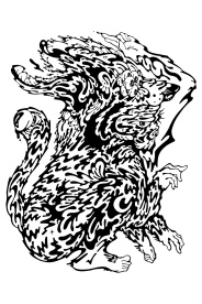 Gabriel Tiongson Foo Dog ink on paper © 2012
