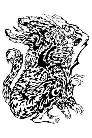 Gabriel Tiongson Foo Dog ink on paper © 2012