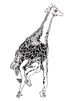 Gabriel Tiongson Giraffey ink on paper © 2011