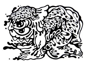 Gabriel Tiongson Gremlin ink on paper © 2012