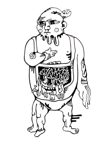 Gabriel Tiongson Krang ink on paper © 2011