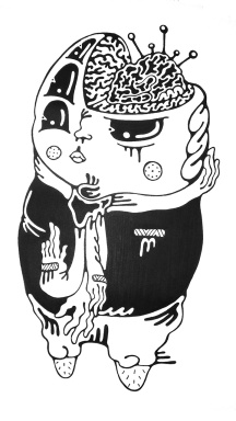 Gabriel Tiongson Left Brained ink on paper © 2011