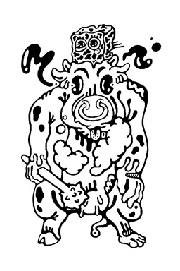 Gabriel Tiongson Mad Cow ink on paper © 2011
