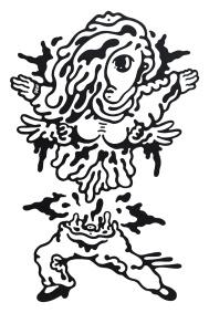 Gabriel Tiongson Manang Gal ink on paper © 2012
