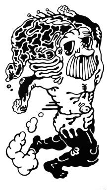 Gabriel Tiongson Marathoner ink on paper © 2011