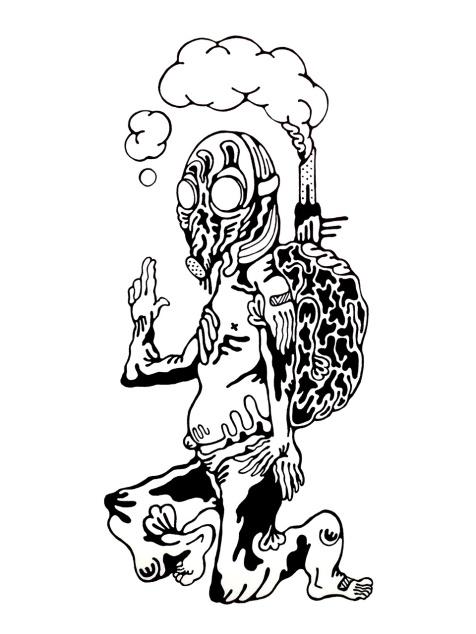 Gabriel Tiongson Marauder ink on paper © 2011