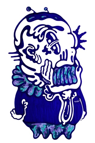 Gabriel Tiongson Mr. Blue ink on paper © 2012
