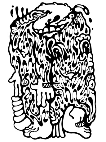 Gabriel Tiongson Oddling ink on paper © 2012