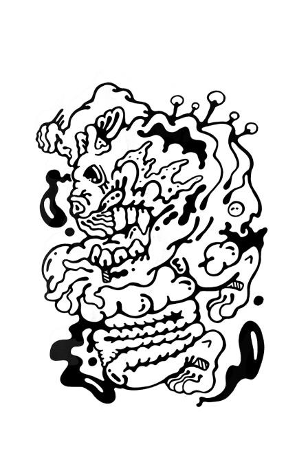 Gabriel Tiongson Pouncer ink on paper © 2011