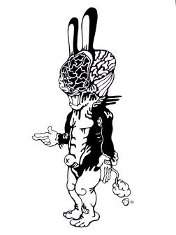 Gabriel Tiongson Rabbitous ink on paper © 2011
