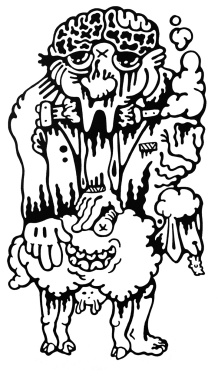 Gabriel Tiongson Sheepster ink on paper © 2011