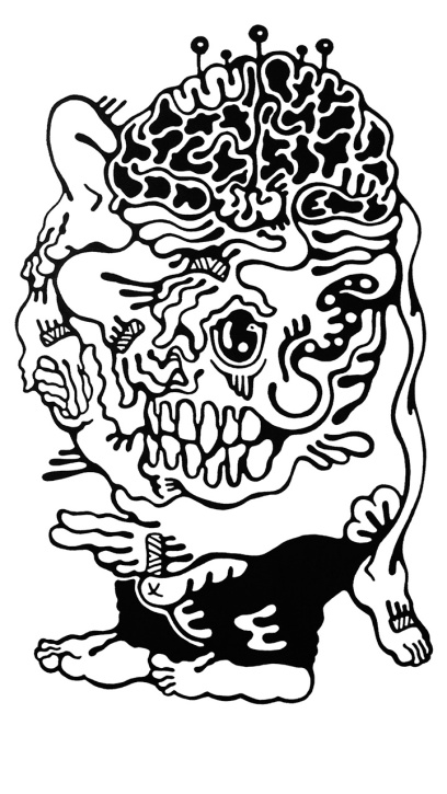 Gabriel Tiongson Skull Treaty ink on paper © 2011