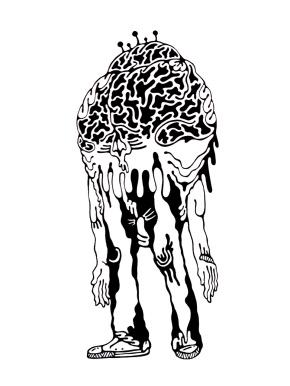 Gabriel Tiongson Skulled Brain ink on paper © 2011