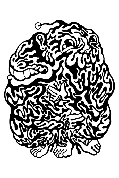 Gabriel Tiongson Smidget ink on paper © 2012