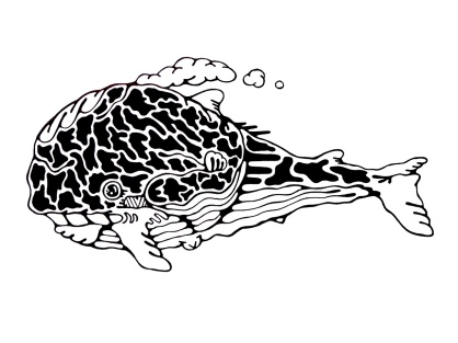 Gabriel Tiongson Sperm Whale ink on paper © 2011