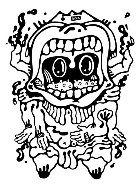 Gabriel Tiongson Superego ink on paper © 2011