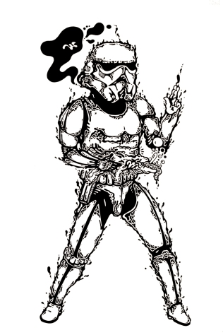 Gabriel Tiongson Trooper ink on paper © 2013