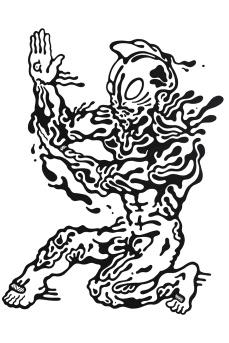Gabriel Tiongson U Man ink on paper © 2012