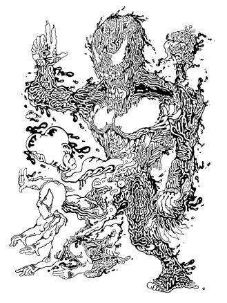 Gabriel Tiongson Venomancer ink on paper © 2011