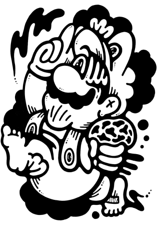 Gabriel Tiongson What Up ink on paper © 2013