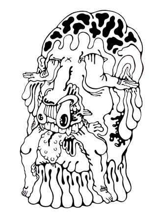 Gabriel Tiongson Zeus ink on paper © 2011