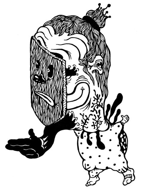 Gabriel Tiongson Base Jump ink on paper © 2010