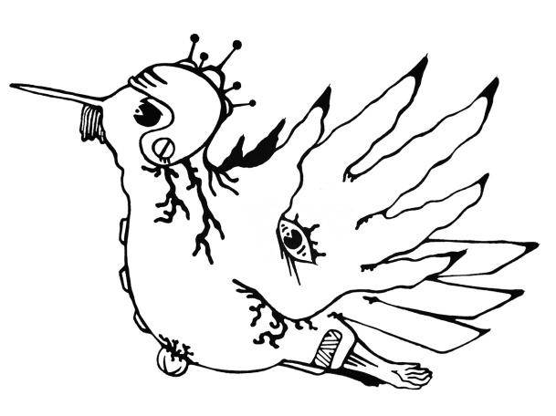 Gabriel Tiongson Birdo ink on paper © 2010