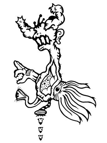 Gabriel Tiongson Bomber 1 ink on paper © 2010